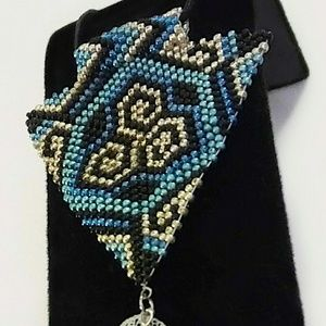 Jewelry - Beaded Triskelion Necklace